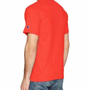Champion Men's Classic Jersey Graphic T-Shirt, Spicy Orange, Medium