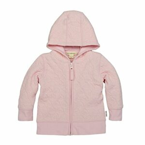 Burt's Bees Baby Unisex Baby Sweatshirts, Lightweight Zip-Up Jackets & Hooded Coats, Organic Cotton, Blossom Quilted Jacket, 3-6 Months