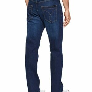 Calvin Klein Men's Relaxed Straight Jeans, Austin Dark Blue, 34W x 32L