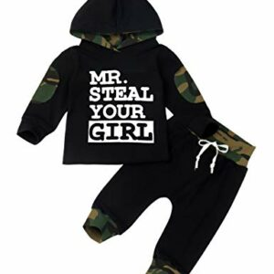 Toddler Infant Baby 6 9 12 18 24 Month Boy Clothes Long Sleeve Hoodie Sweatshirt Top + Camouflage Long Pants Outfit Sets 2-3T
