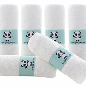 Bamboo Baby Washcloths – Hypoallergenic 2 Layer Ultra Soft Absorbent Bamboo Towel – Newborn Bath Face Towel – Natural Reusable Baby Wipes for Sensitive Skin – Baby Registry as Shower