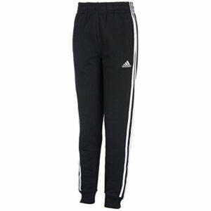adidas Boys' Big Fleece Jogger Pant, Focus Black, M (10/12)