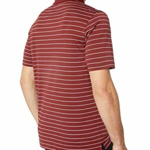 Amazon Essentials Men's Regular-Fit Quick-Dry Golf Polo Shirt, Port Stripe, Large