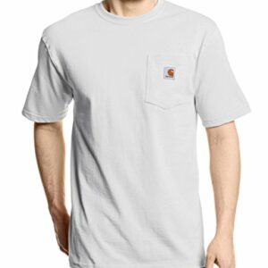 Carhartt Men's K87 Workwear Short Sleeve T-Shirt (Regular and Big & Tall Sizes), White, Small