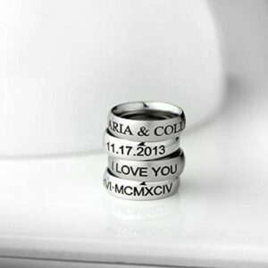 Personalized Ring Custom Engraved Ring personalized dad gift Mens Ring Personalized Gifts for Him Personalized Gifts for Father's Day Personalized Mens Gift Promise Ring – RR3