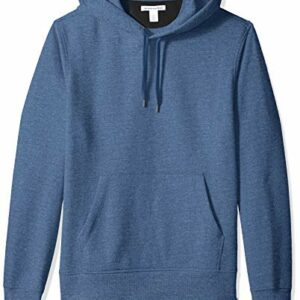 Amazon Essentials Men's Hooded Fleece Sweatshirt, Blue Heather, Large