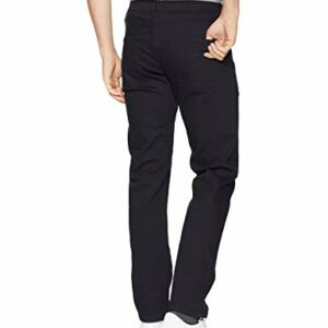 Amazon Essentials Men's Straight-Fit Stretch Jean, Black, 36W x 31L