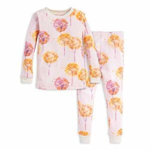 Burt's Bees Baby Baby Girls' Pajamas, Tee and Pant 2-Piece PJ Set, 100% Organic Cotton, Fall Foliage, 18 Months