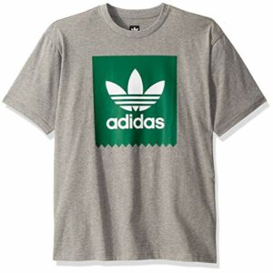 adidas Originals Men's Skate Solid Blackbird Tee, core heather/bold green, Large