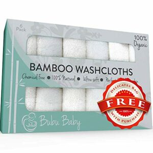 Bamboo Washcloths – Organic Baby Wash Cloths Towels – Soft Face Cloth Towel Sets
