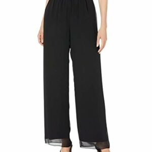 Alex Evenings Women's Chiffon Dress Pants, Black, M