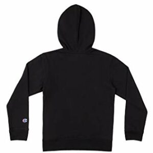 Champion Kids Clothes Sweatshirts Youth Heritage Fleece Pull On Hoody Sweatshirt with Hood (Heritage Black, Medium)