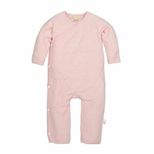 Burt's Bees Baby Baby Girls' Romper Jumpsuit, 100% Organic Cotton One-Piece Coverall, Blossom Quilted Kimono, Newborn