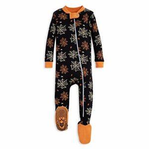 Burt's Bees Baby Baby Boys Unisex Pajamas, Zip-Front Non-Slip Footed Sleeper PJs, Organic Cotton, 12 Months