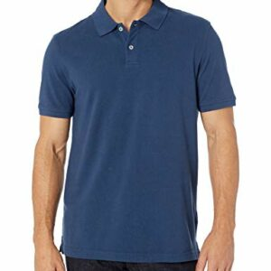 Amazon Essentials Men's Slim-Fit Cotton Pique Polo Shirt Shirt, -Cadet Blue, Medium