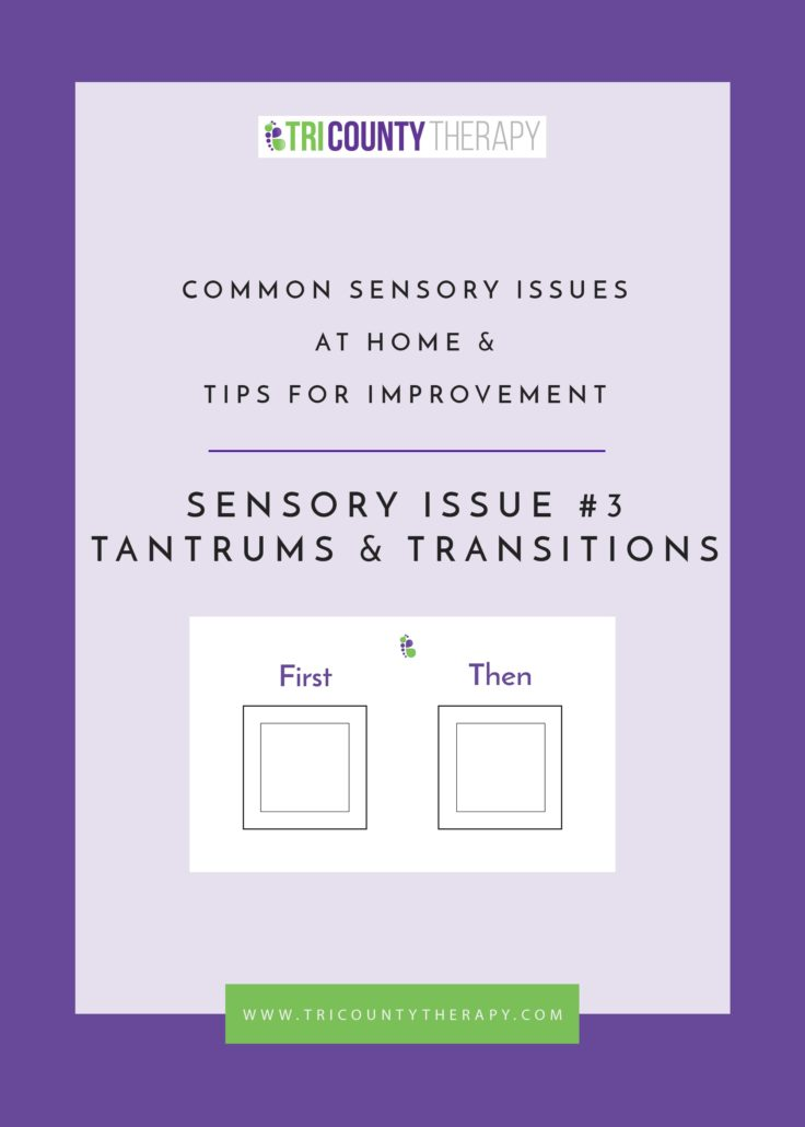 Sensory Issue Three: Tantrums & Transitions
