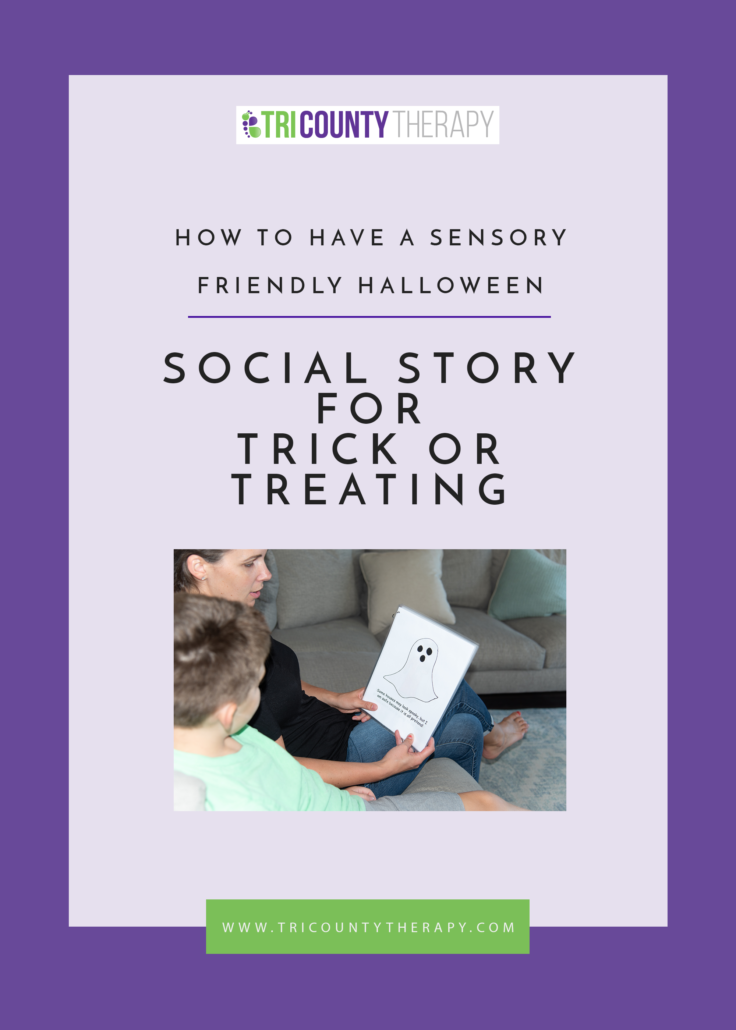 How To Have A Sensory-Friendly Halloween: Social Story For Trick-or-Treating