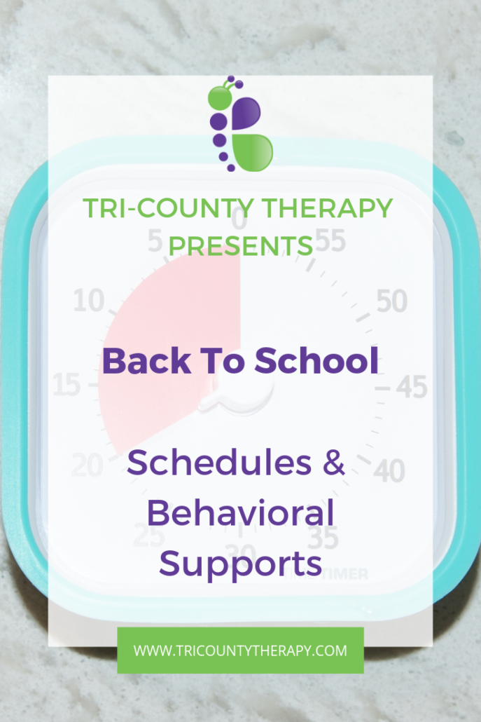 Back To School: Schedule & Behavioral Supports