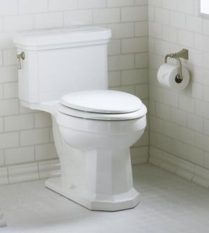 ADA approved Comfort Height Toilet in bathroom