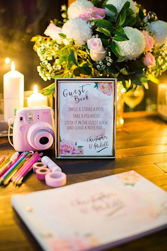 Polaroid Wedding Guest Book.Polaroid Wedding Guest Book Weddings To The Wire