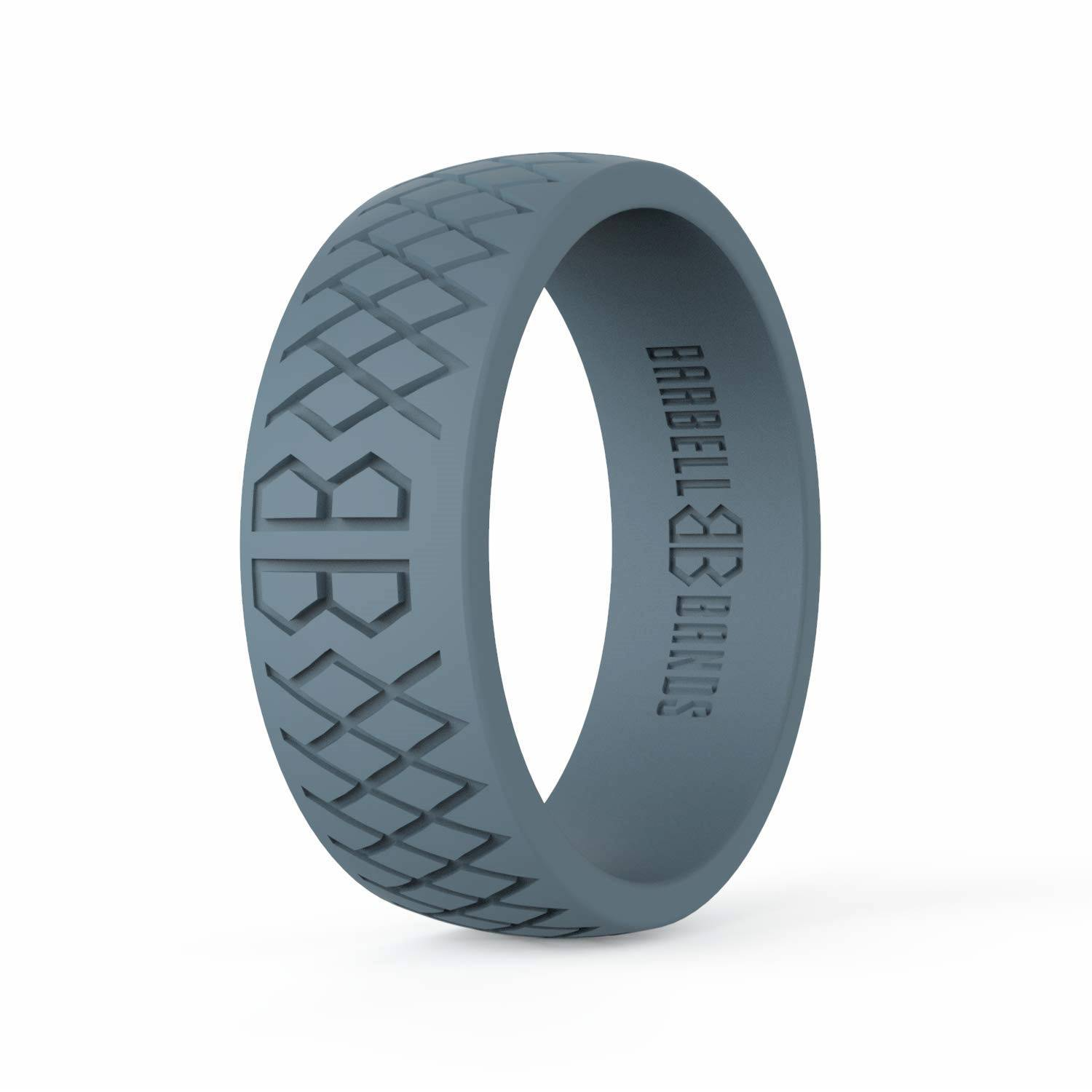 Hypoallergenic Comfortable Safety Rubber Ring Ideal Silicone Wedding Ring Gift for Him Her TUF Silicone Ring for Women Men Rubber Wedding Band Medical Grade Unisex Sturdy Exercise Ring