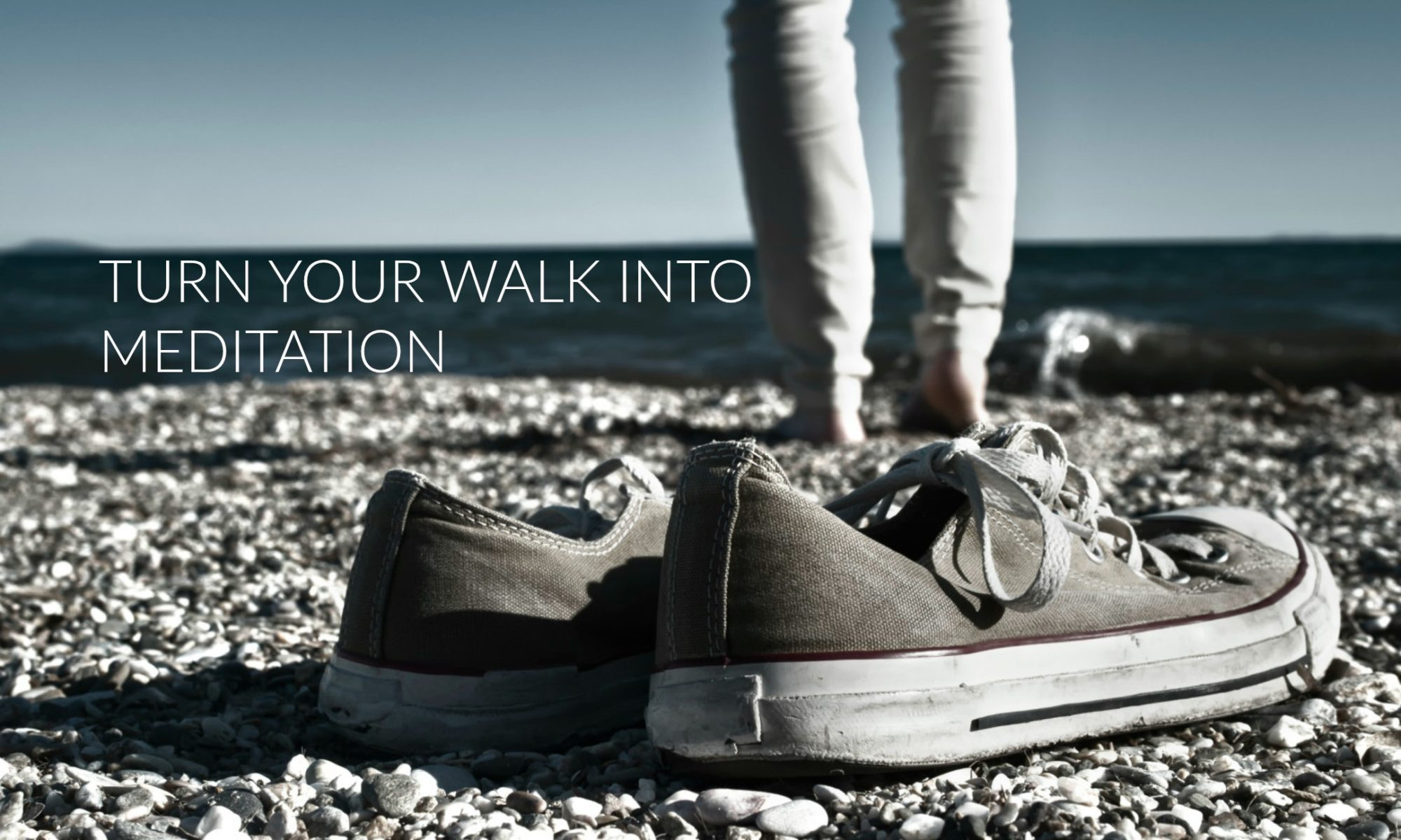 sneakers on the beach, meditation, whole families intervention and services