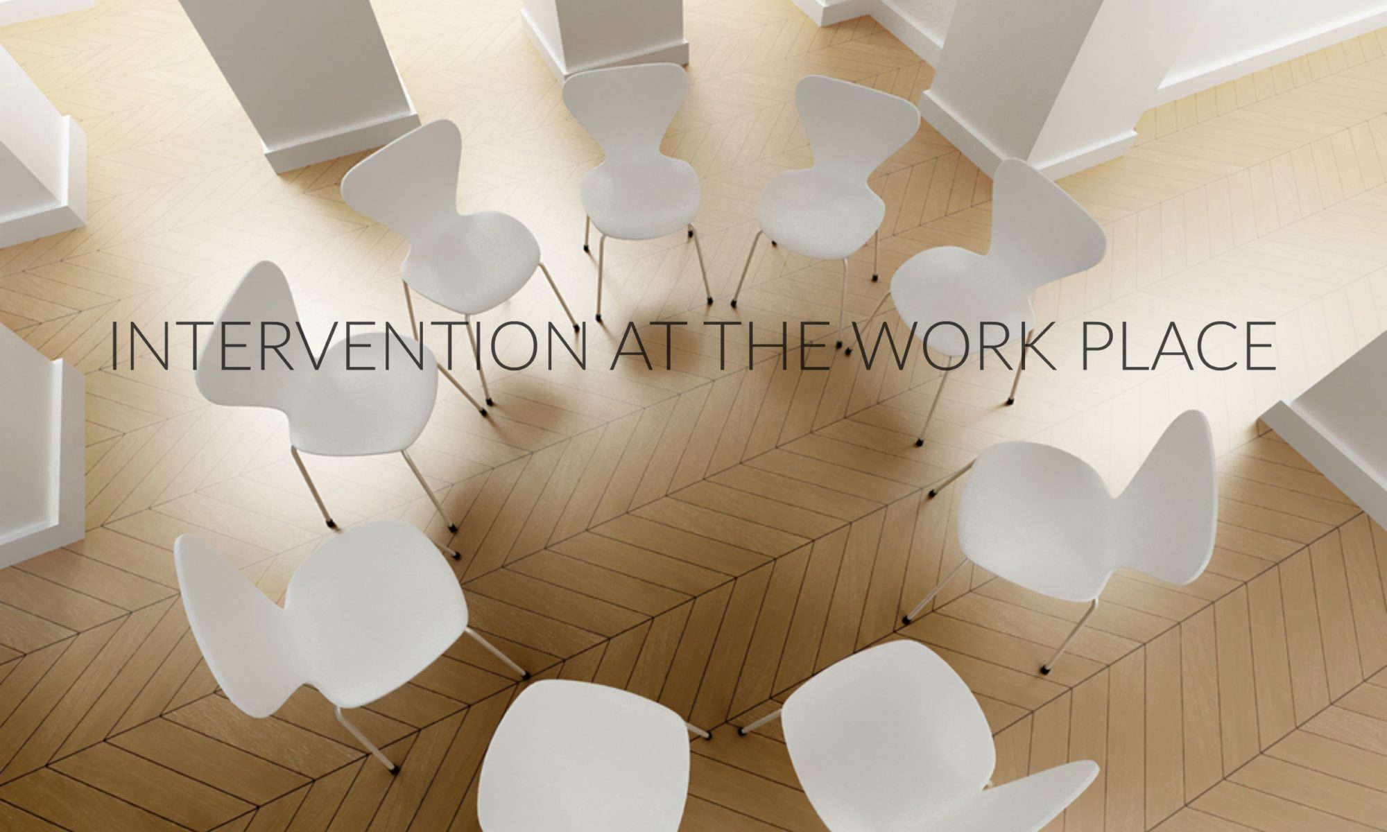 WHITE CHAIRS IN CIRCLE FOR INTERVENTION, WHOLE FAMILIES INTERVENTIN AND HOLISTIC RECOVERY COACHING, INTERVENTION SERVICES