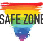 safezonequare logo rainbow triangle