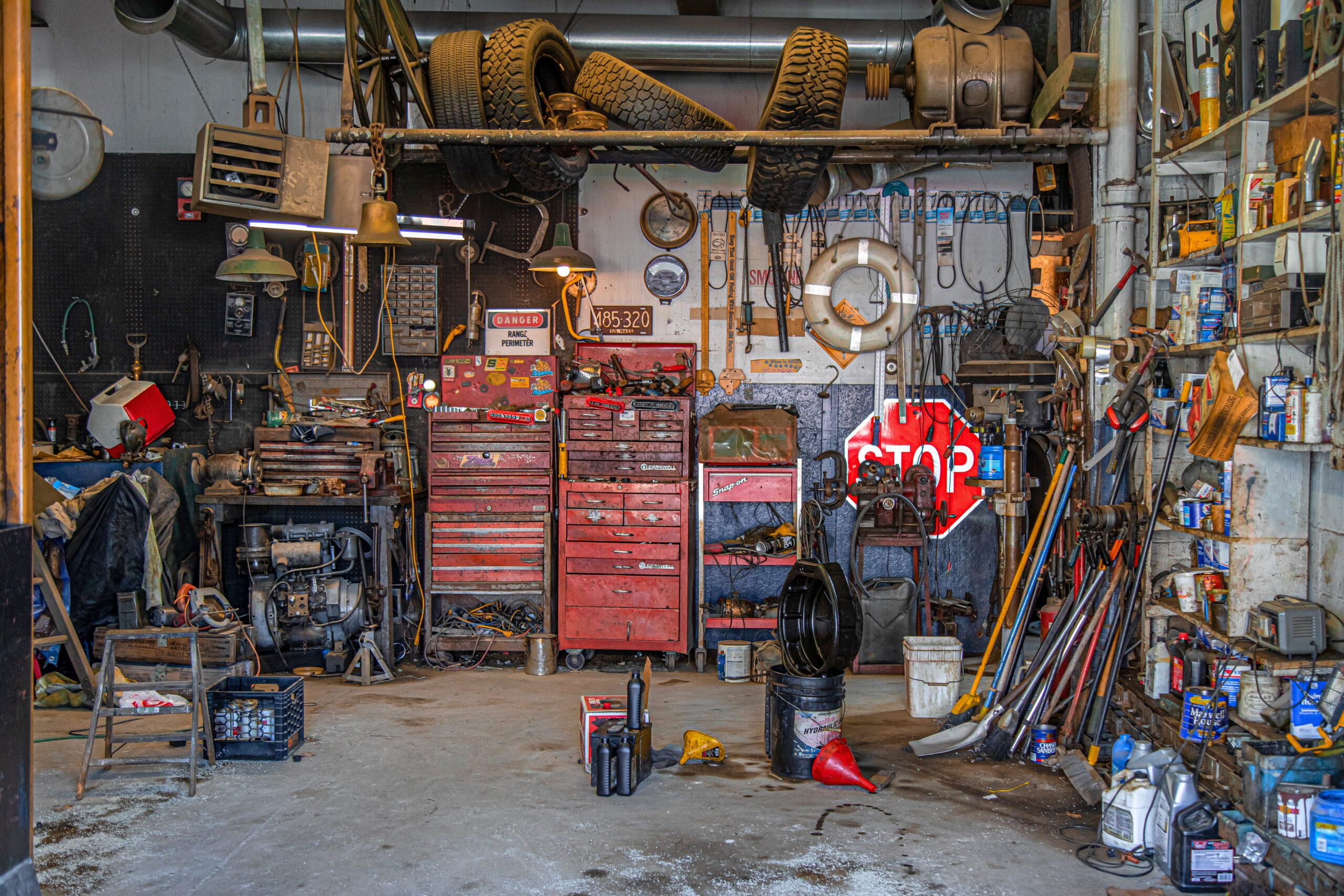 junk removal in cluttered garage