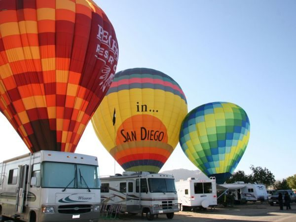 Campsites on Sale for Temecula Valley Balloon and Wine Festival