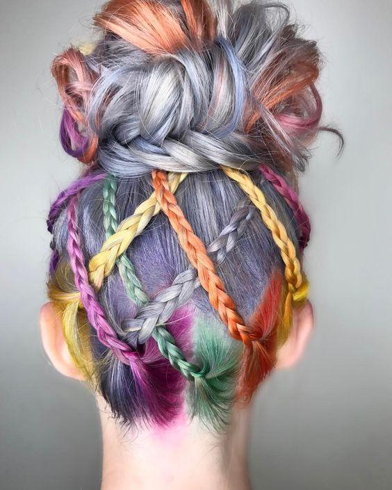 hidden rainbow hair.
