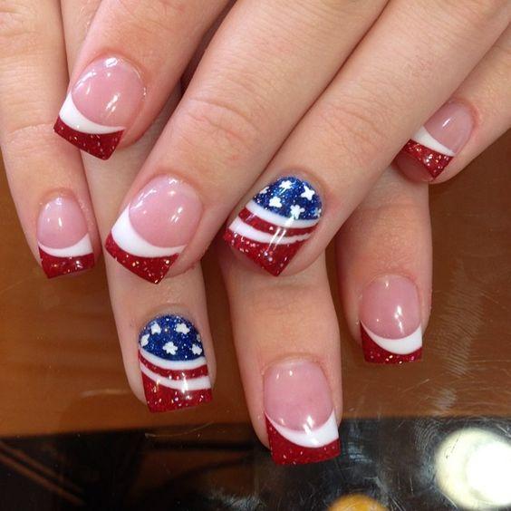 Nail Art para el 4 de julio