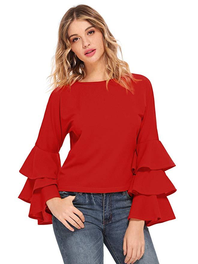 blusas rojas en los looks patrióticos para el 4 de julio