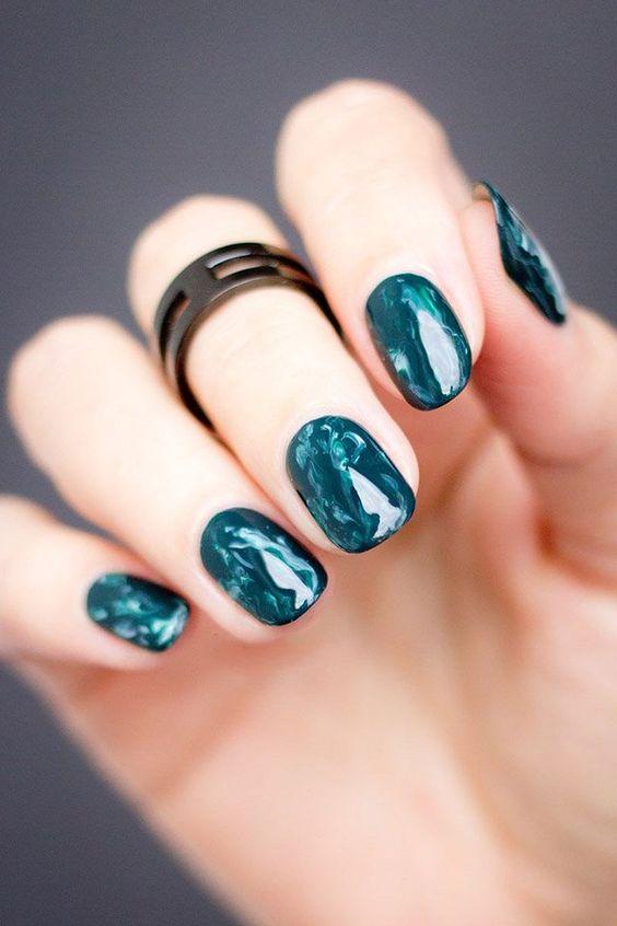 Marble Nail Art Designs, uñas