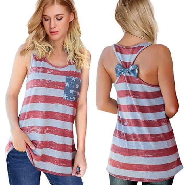 top con bandera americana para verano