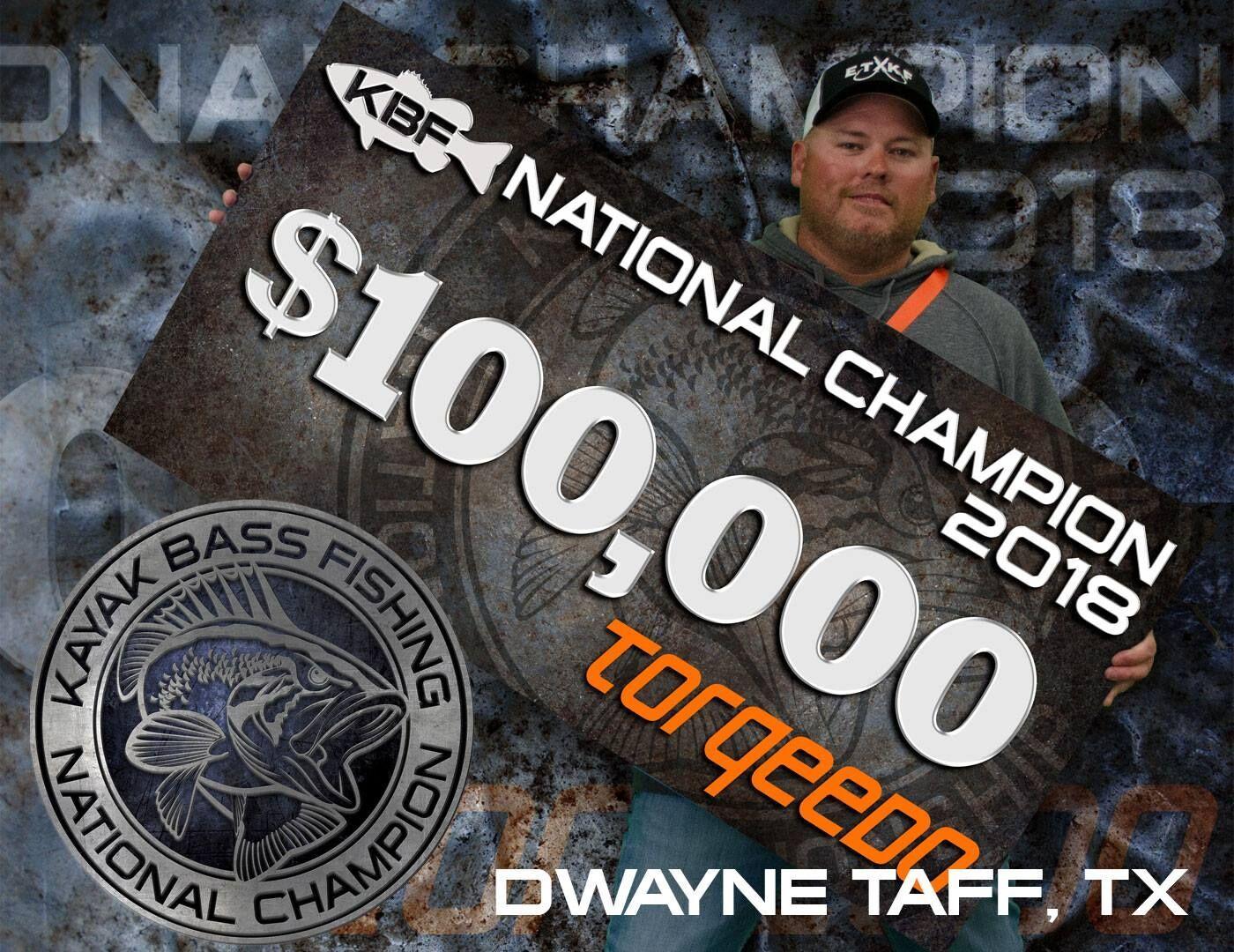 Torqeedo Dwayne Taff Kayak Bass Fishing National Champion 2018