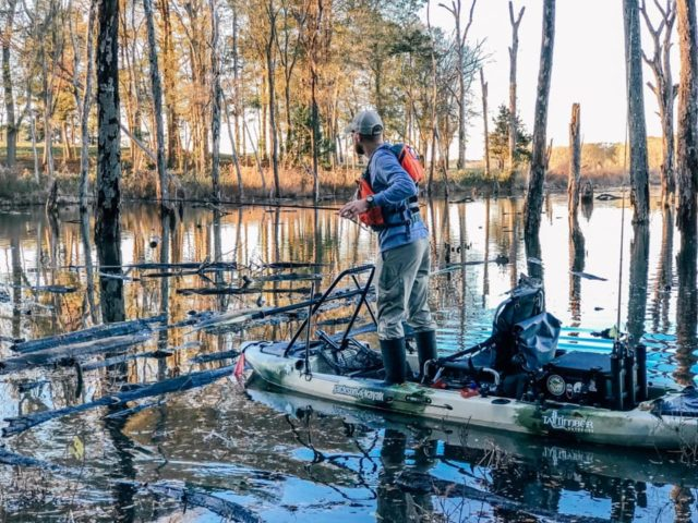 Blake Russell in his Jackson Mayfly. Photo credit: Ashley Russell Kayak Standability stability