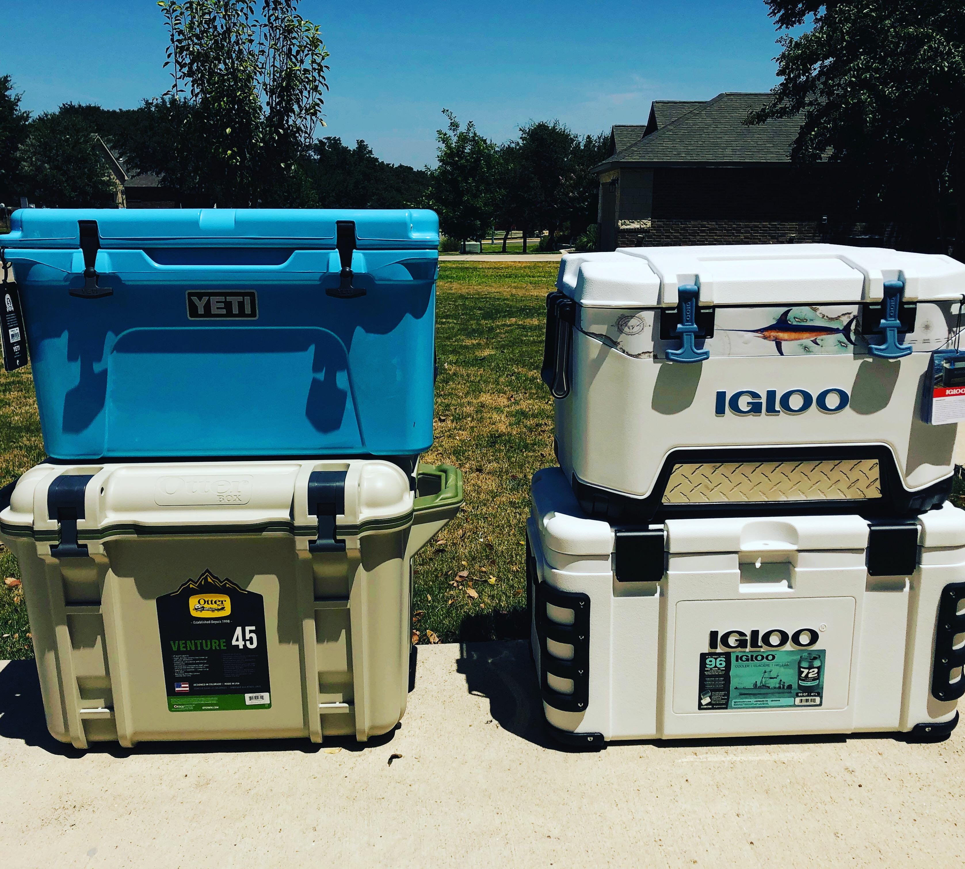 Cooler Ice Retention Test YETI Otter Box Igloo Payne Outdoors