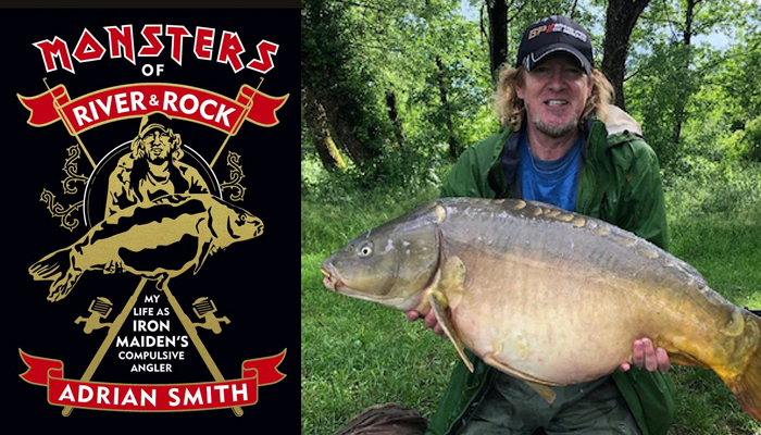 Iron Maiden Adrian Smith Fishing Book Monsters of Rivers and Rock