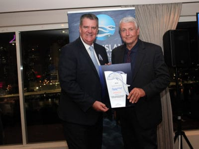 Minister the Hon. Mark Furner with Large Business Award winner Ian Hamilton, Aussie Seafood Houses / Seafood Warehouse