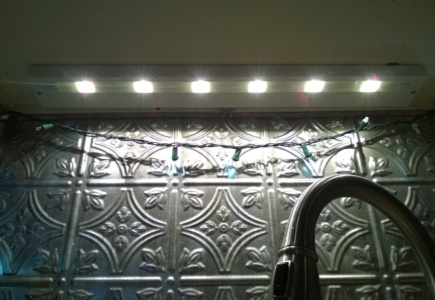Replacing the Light Over the Kitchen Sink