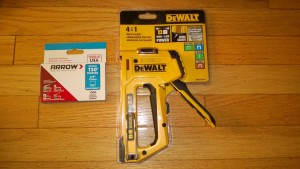 dewalt high power staple gun and stainless steel staples catio