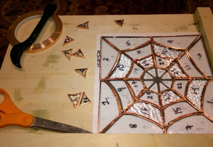 Stained Glass Spider Web – Part 2