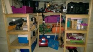 alternate storage area in basement