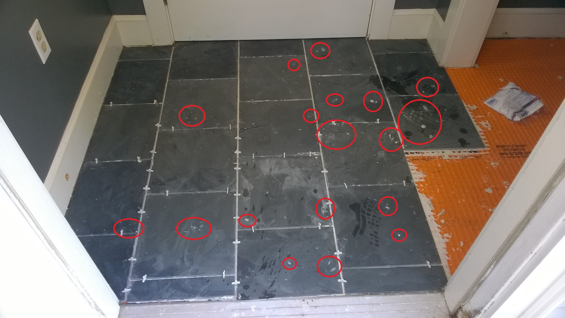 Removing Dried Mortar From Slate Tiles – ORBITED BY NINE DARK MOONS