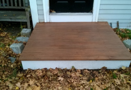 Front Stoop Stained & Sealed
