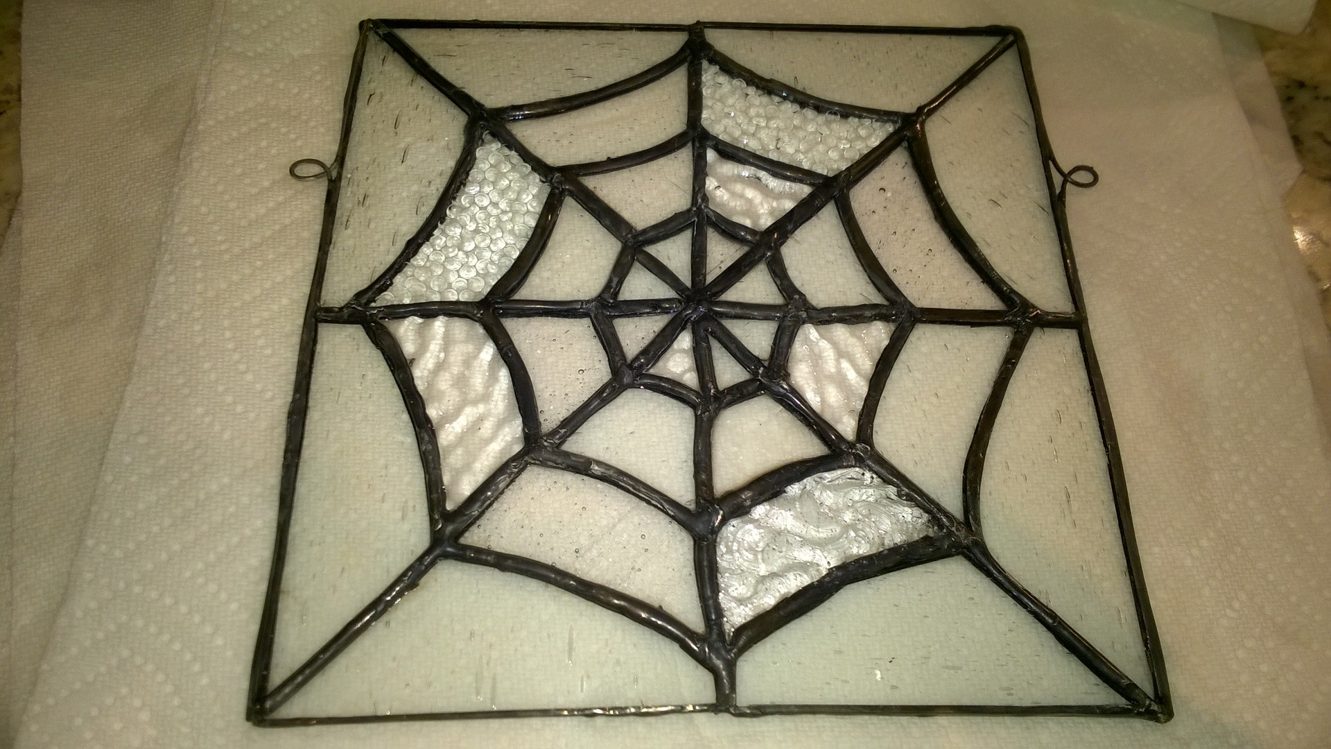 Stained Glass Spider Web – Part 4