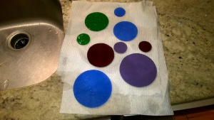 creating stained glass circles