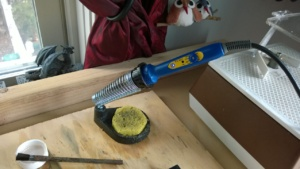 the soldering iron i use for stained glass