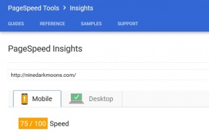 updated google pagespeed speed test results
